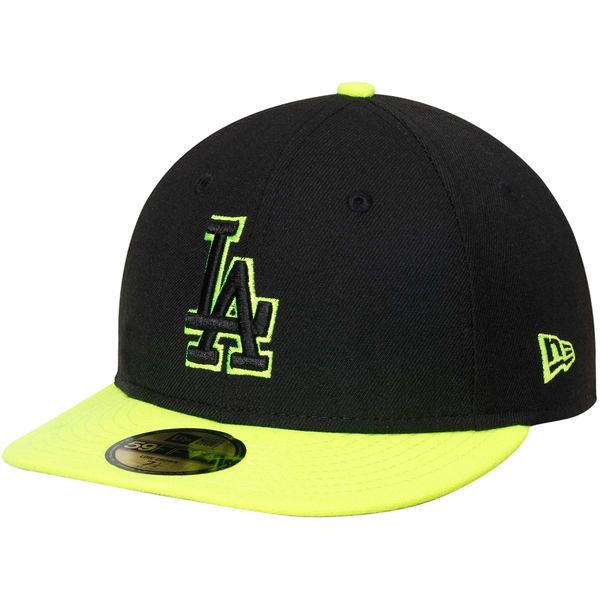 promo code cda07 6fb45 Los Angeles Dodgers New Era Pop 59FIFTY Fitted Hat - Black Yellow -  34.99
