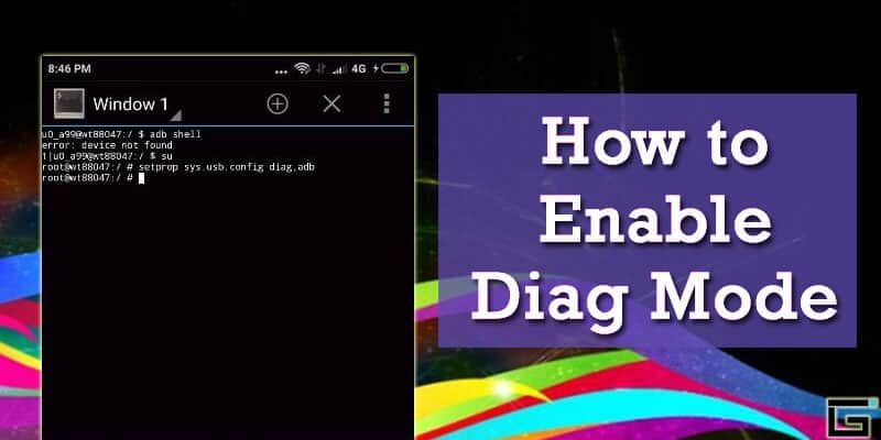 Enable DIAG Mode or COM Port on any Android Smartphone / Tablet