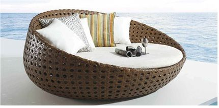 St Tropez All Weather Rattan Lounge Pod