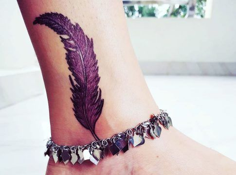 31 Small Flower Ankle Tattoos For Women