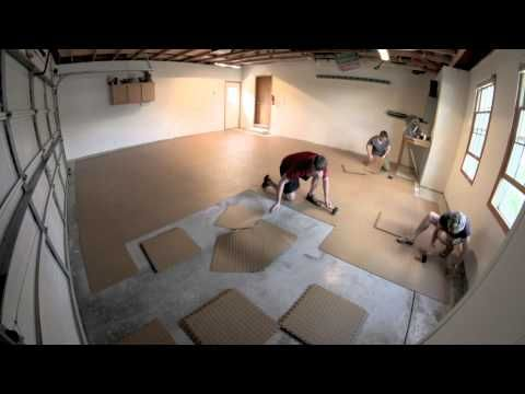 How To Install Flex Tiles Garage Flooring Inc Garage Makeover