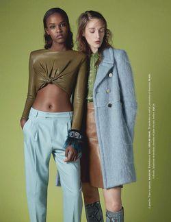 'Kaki & Co' Franzi Mueller & Leila Nda by Camille Armbrust for Elle France 12 September 2014 3