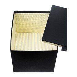PALLRA Caja con tapa - gris oscuro, 27x22x20 cm - IKEA