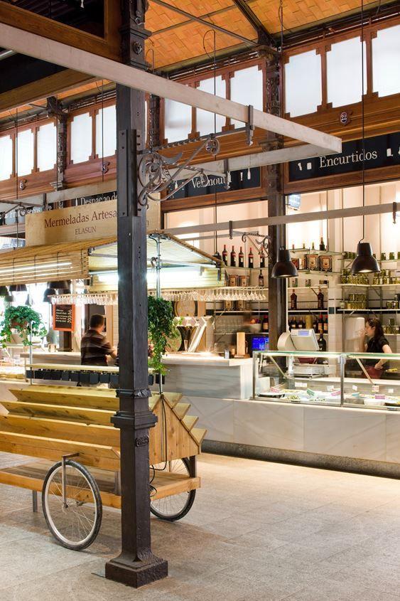 El Mercado De San Miguel Picture Gallery Indoor Markets Food Hall Vintage Interior