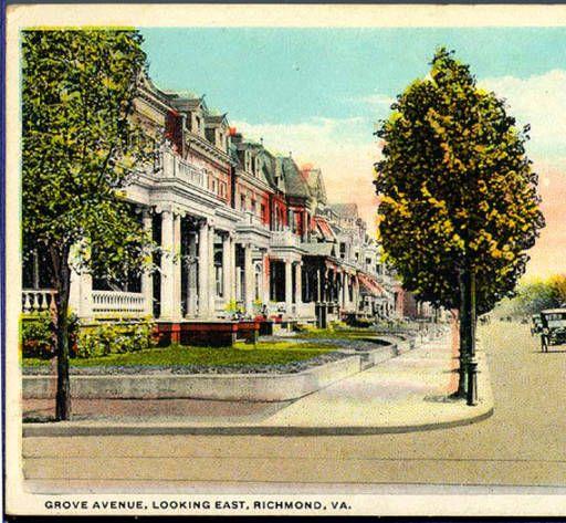 Grove Ave Looking East Richmond Va Richmond Virginia