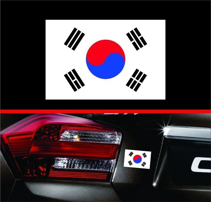 4  South Korea Korean Flag Vinyl Decal Bumper Sticker KDM For Hyundai Genesis | eBay