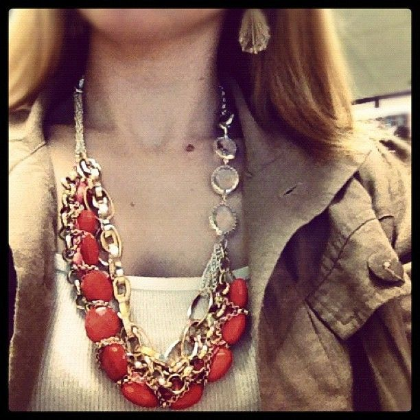 Layer multiple Styled by Tori Spelling necklace bottoms to create a ...