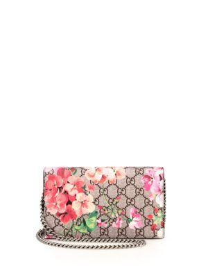 50466a490dc GUCCI GG Blooms Supreme Chain Wallet.  gucci  wallet