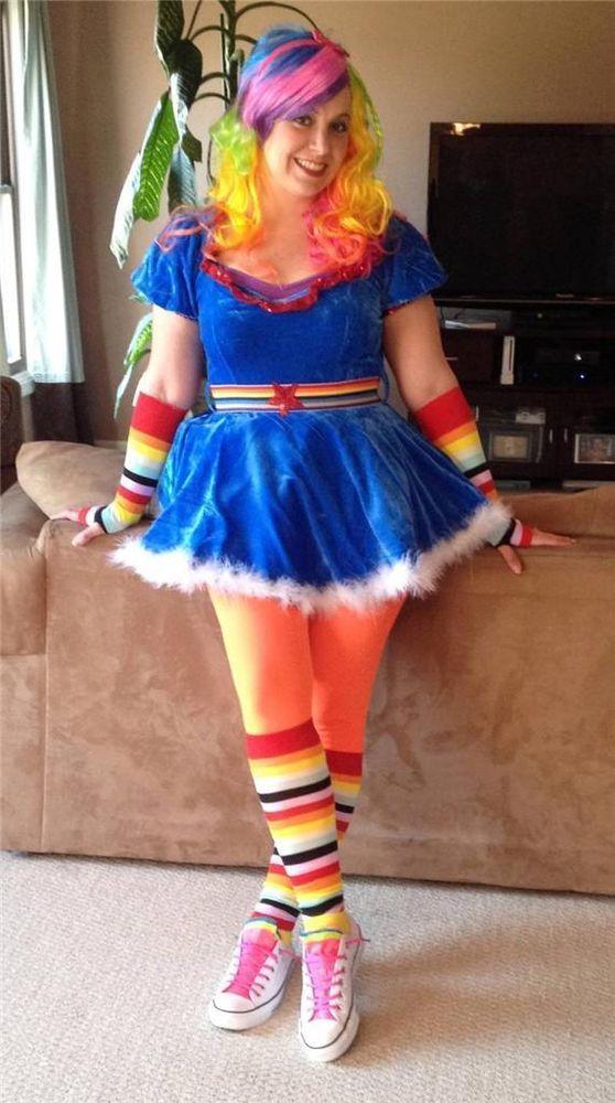 Gay Pride Halloween Costume.Ladies Rainbow Brite Halloween Costume Wig Medium M Euc Drag