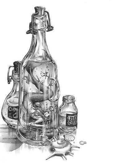 Drawing Of A Mermaid Inside Bottle Art Bottle Drawing Bottle Art Art