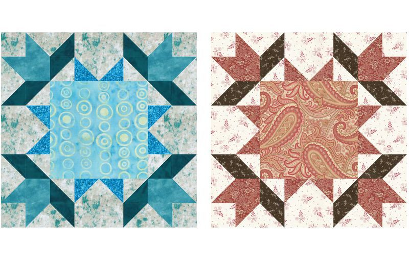 Try One Of My 12 Quilt Block Patterns Patterns Star Quilt Blocks