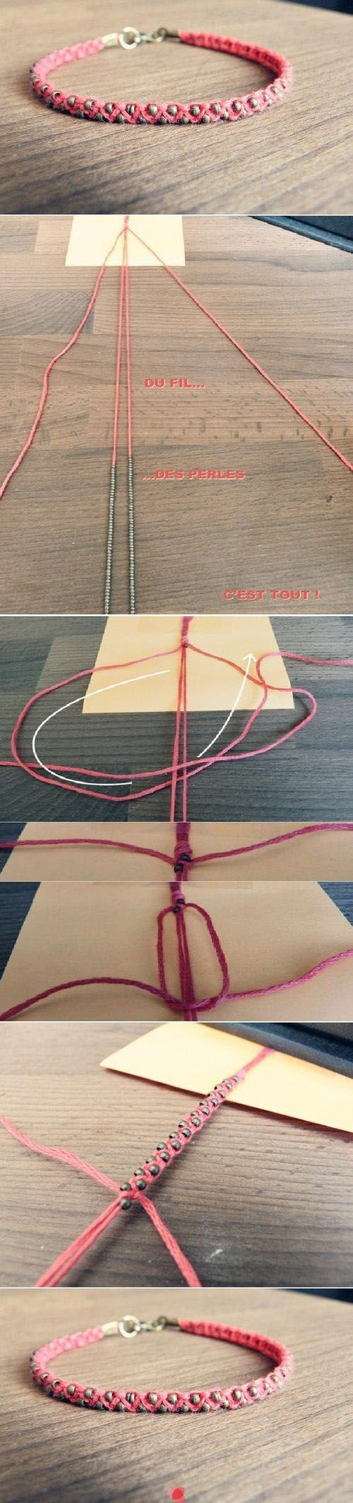 Do you have tiny beads and string around the house? This will be a perfect project for you then!