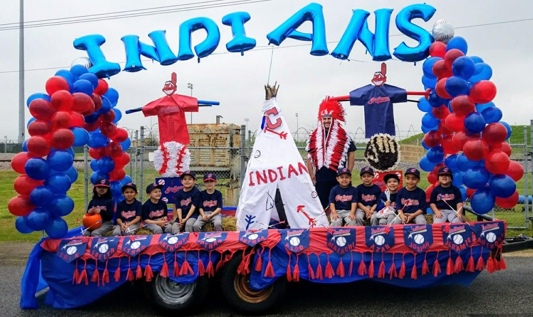 Indians Baseball Parade Float Parade Float Decorations Parade Float