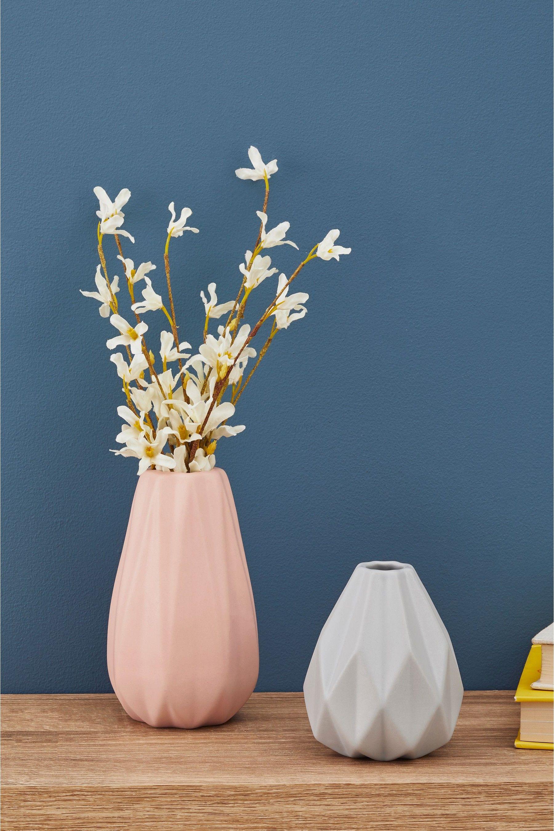 Next Set Of 2 Pleated Vases Pink Diy Vase Vase Home Decor Wall Art