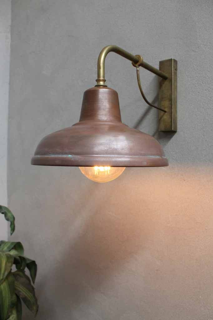 The Weathered Design Copper And Brass Fittings Give It A Unmistakable Character That Will Liven Up A Garden Are Outdoor Wall Lighting Wall Lights Outdoor Walls