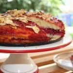 עוגה לשבת: עוגת ספוג בטעם ליים עם ריבת פטל טרייה