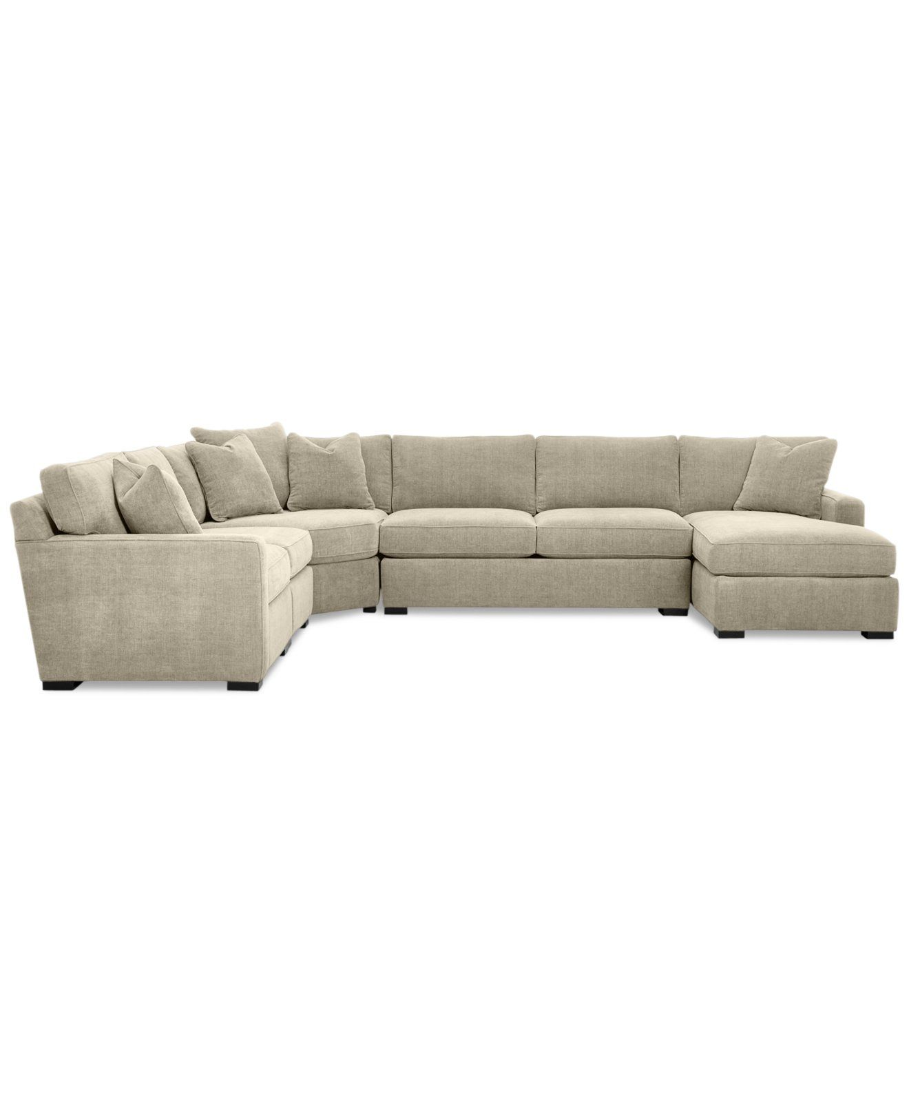 Furniture Radley 5 Piece Fabric Chaise Sectional Sofa Created For Macy S Reviews Furniture Macy S Sectional Sofas Living Room Fabric Sectional Sofas Sectional Sofa