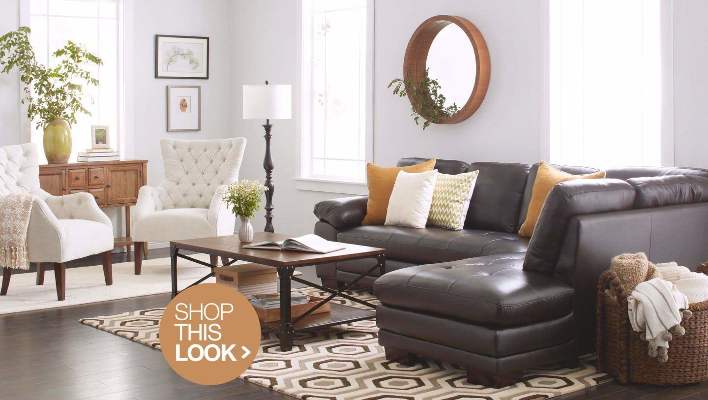 6 Chic Living Room Ideas To Try At Home Brown Living Room Leather Sofa Living Room Elegant Living Room