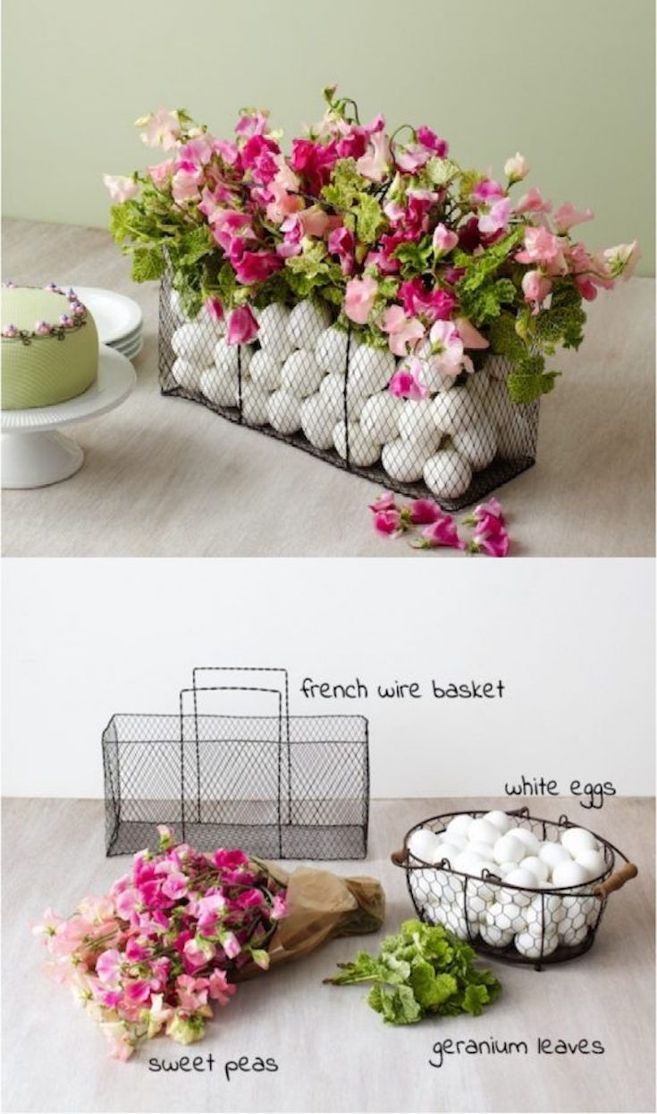 18 DIY Easter Centerpieces to Adorn Your Table | Easter table, Wire ...