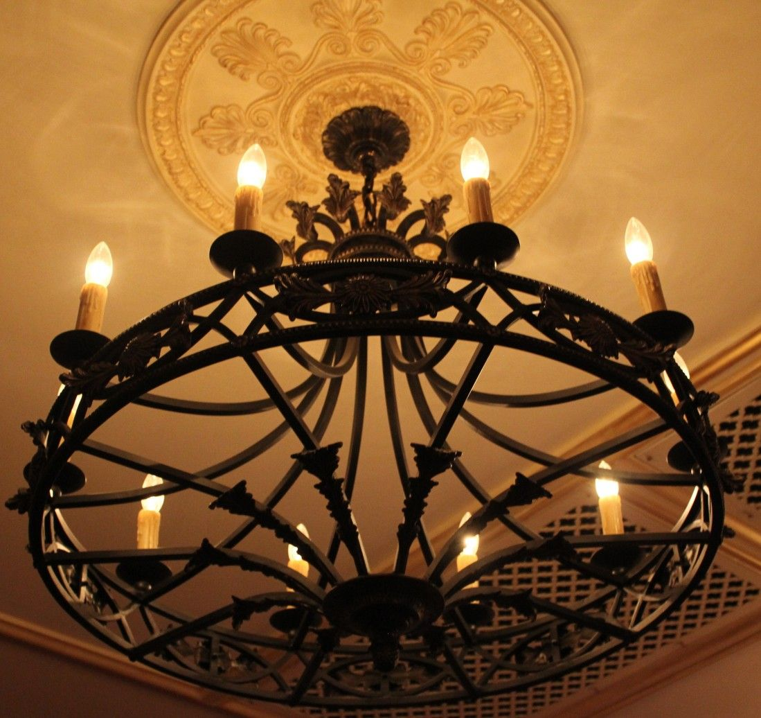 Old World Wrought Iron Chandelier Light Decorating Ideas B