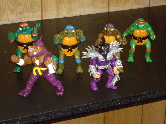 Playmates Teenage Mutant Ninja Turtles Lot Of 8 Movie Star Action