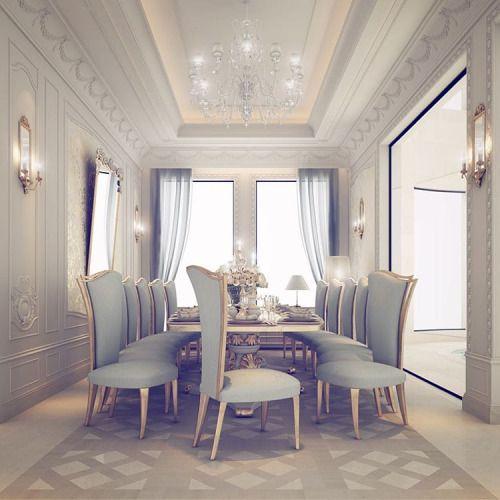 126 Custom Luxury Dining Room Interior Designs: Private Villa Design