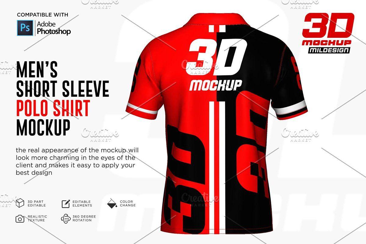 Download 3d Polo Shirt Jersey Mockup Sponsored Adobe Photoshop Mockup File Shirt Mockup Men Short Sleeve Polo Shirt