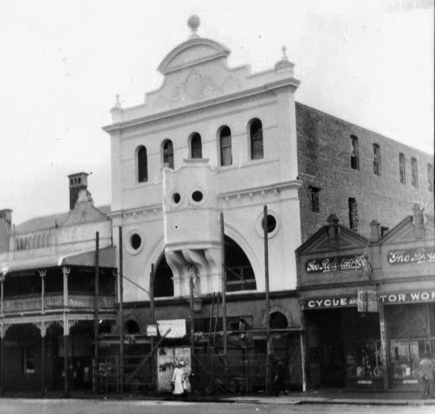 The building of The Strand cinemas. It was designed by George Henry Male Addison and built from 1915 to 1933 by Luke Halley.