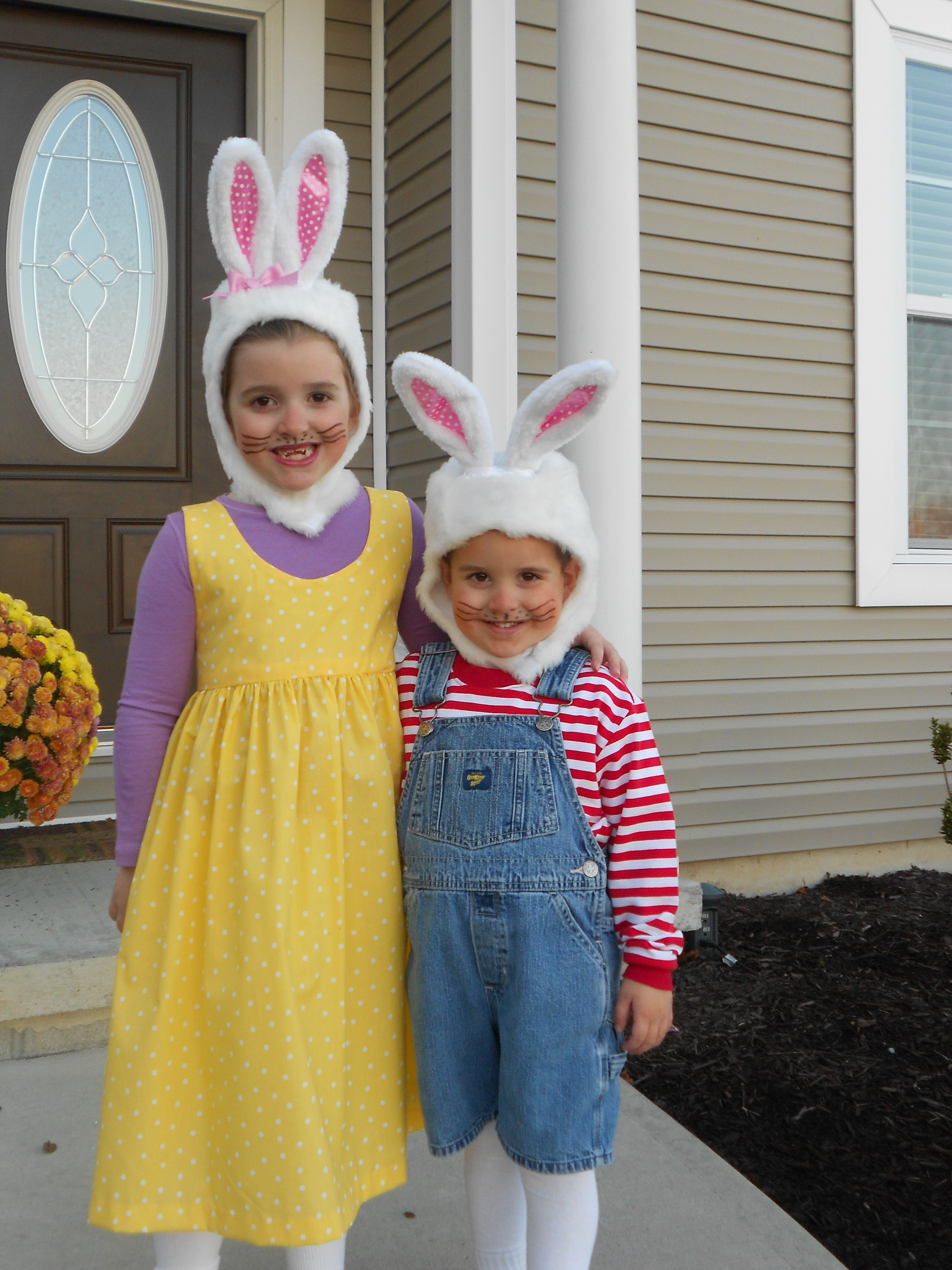 these max and ruby halloween costumes are too cute! | silly spooky