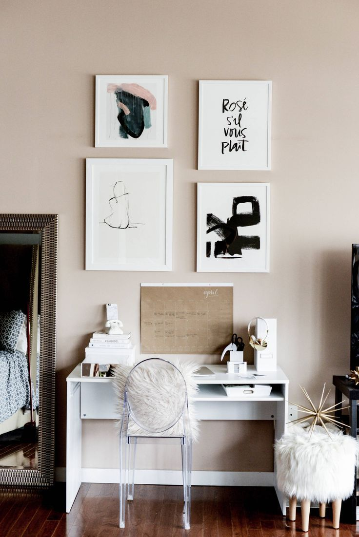 This home office makeover from @Lauren Price | Fashionably Lo ...