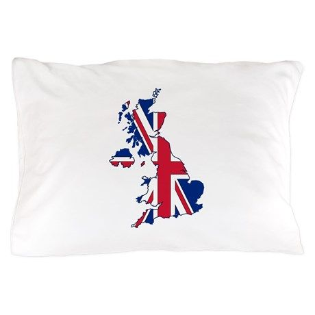 UK Outline and Flag Pillow Case