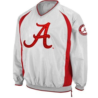 Alabama Crimson Tide Hardball Pullover Windbreaker Jacket - White ...