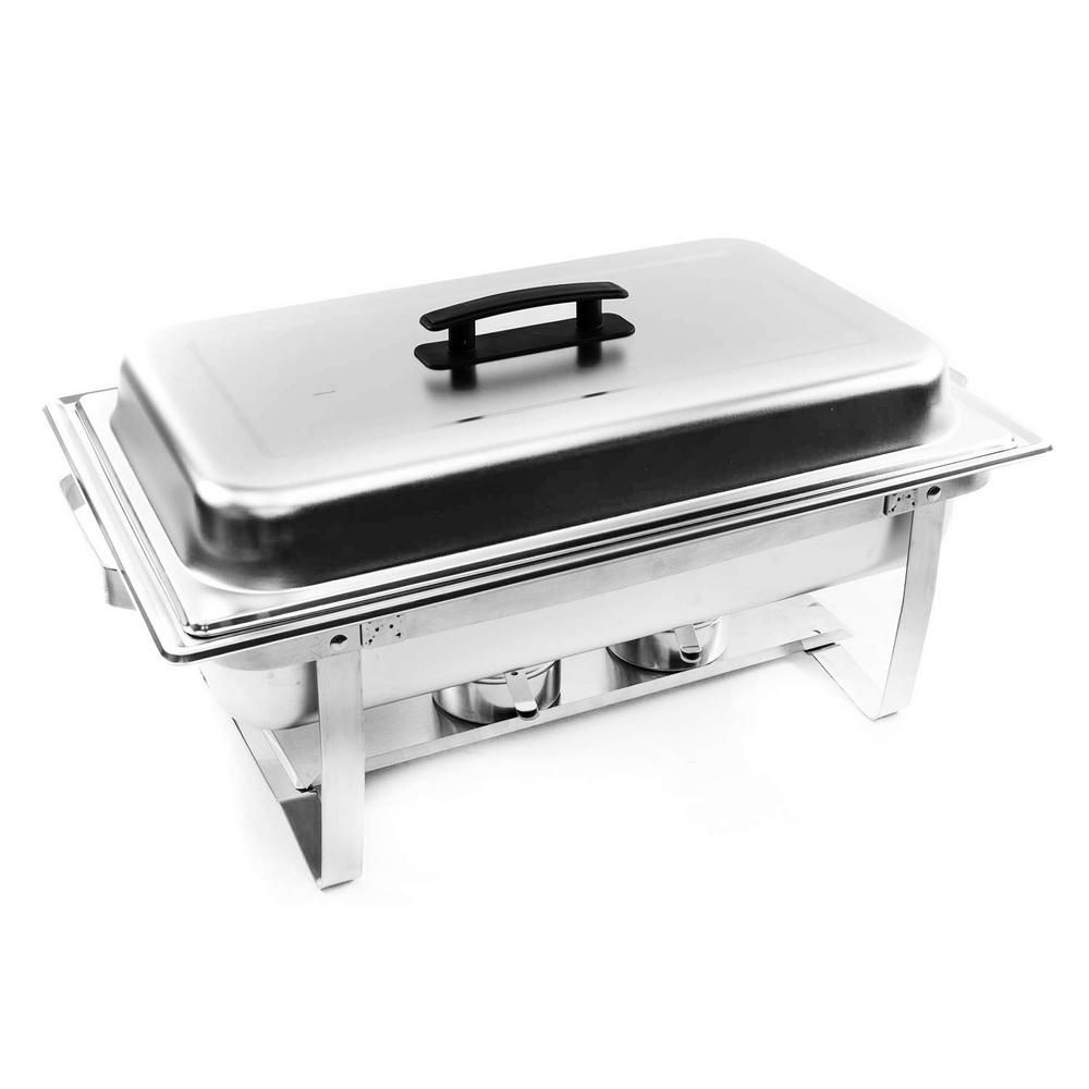 Alpha Living 8 Qt Foldable Frame Stainless Steel Chafing Dish