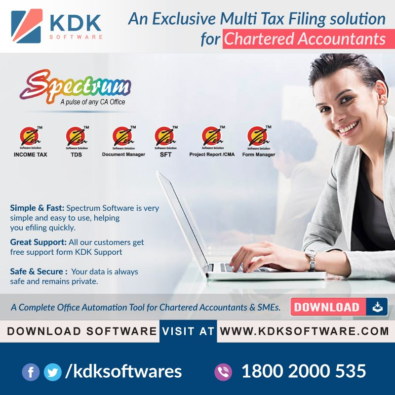spectrum a completed tax compliance software 360 solution the most appreciated by chartered filing taxes income worksheet format accounting balance sheet entry
