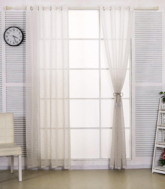 WOLTU® VH5853be1 , Gardine transparent mit Ösen in