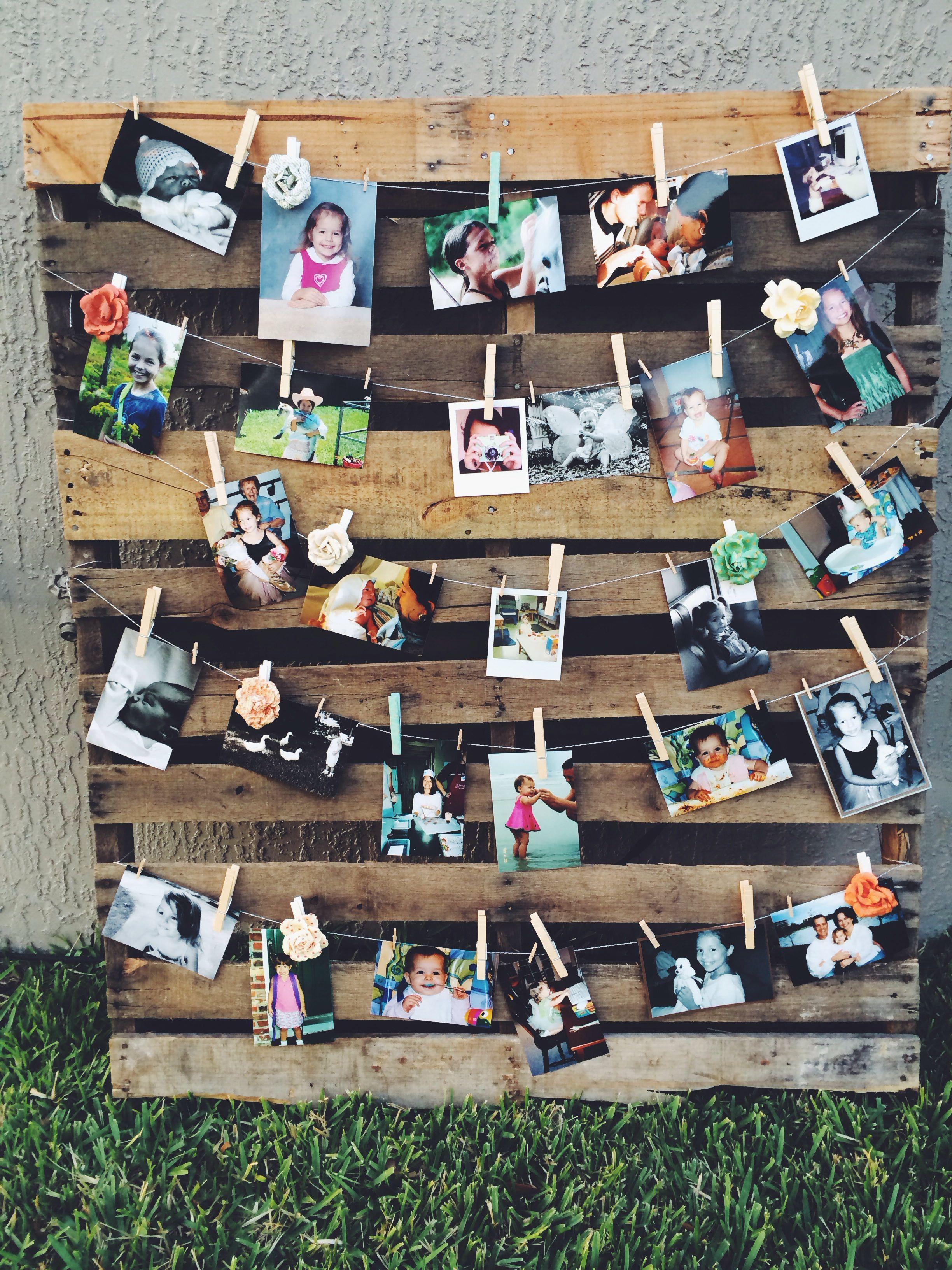 Pallet photo display-Sweet Sixteen party | Graduation ...