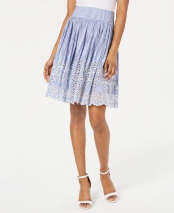 fc78d09e972 Guess Susan Cotton Eyelet Skirt - Blue 25