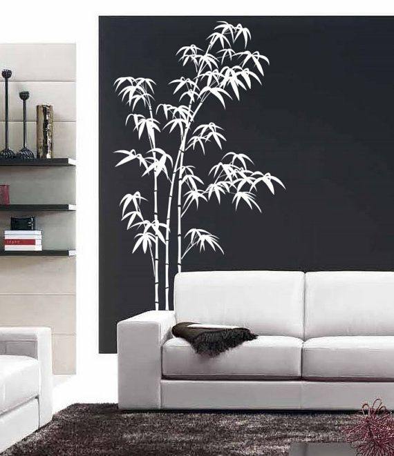 Bamboo Wall Decals For Bedroom Living Room Large Tree Stickers Japanese Chinese Wall Art Removable Stic Wall Decals For Bedroom Bamboo Wall Home Decor Wall Art