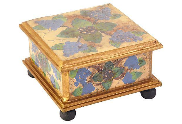 "4"" Square Box, Antique Grapes on OneKingsLane.com"