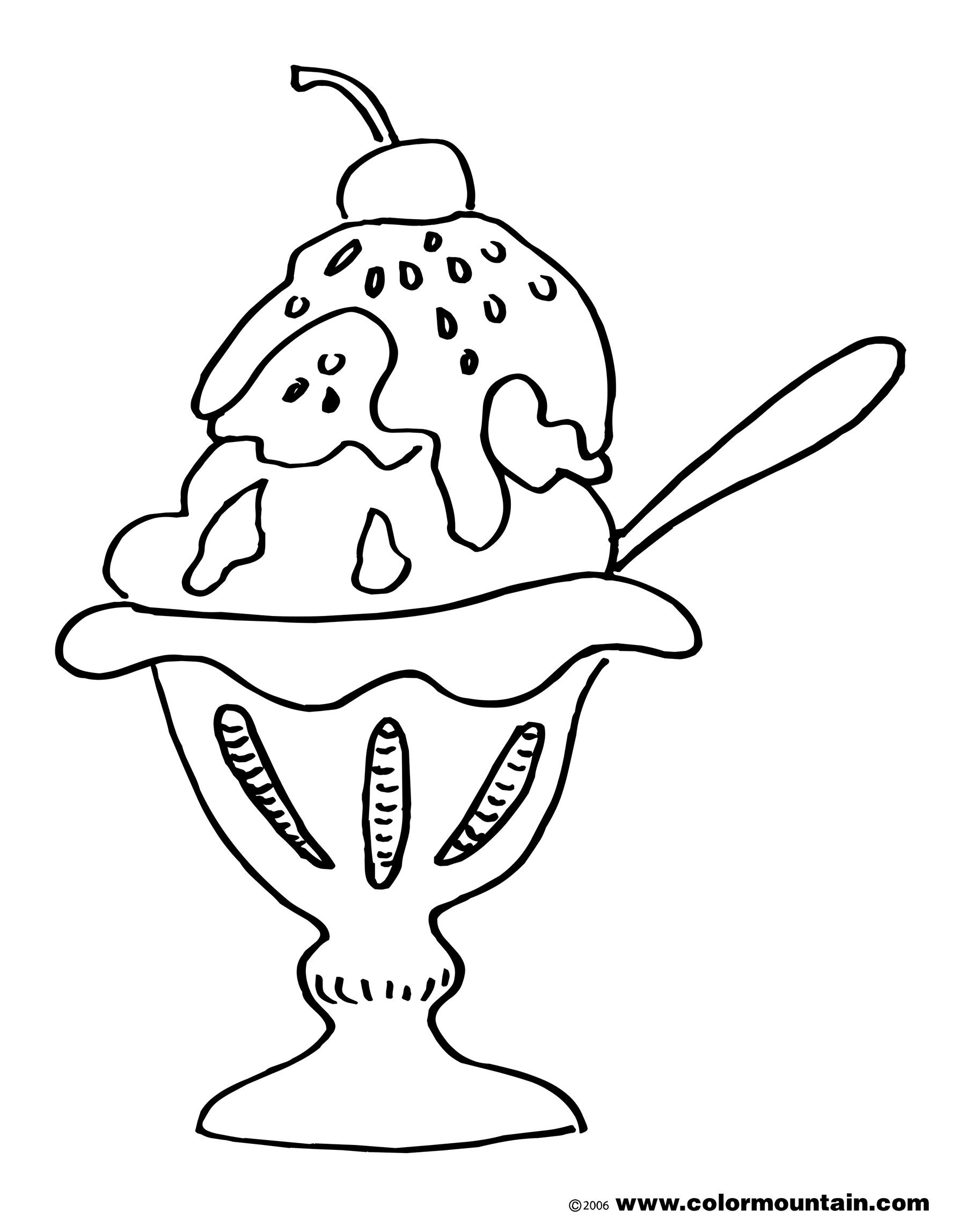 Ice Cream Sundae Coloring Pages Ice Cream Coloring Pages Owl Coloring Pages Coloring Pages