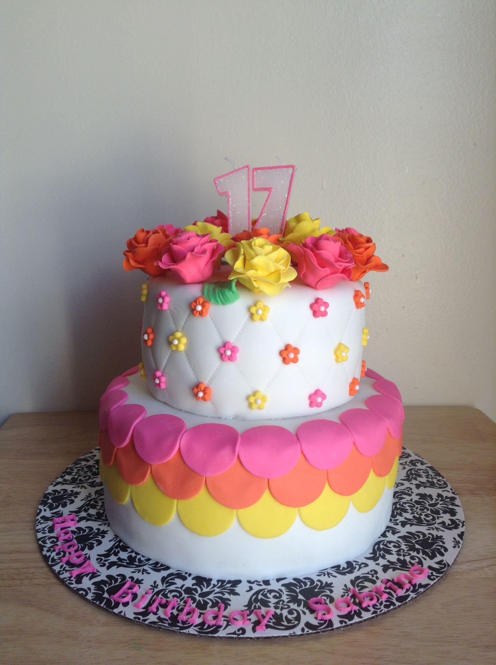 17th Birthday Cake Cake Pinterest 17th birthday cakes 17