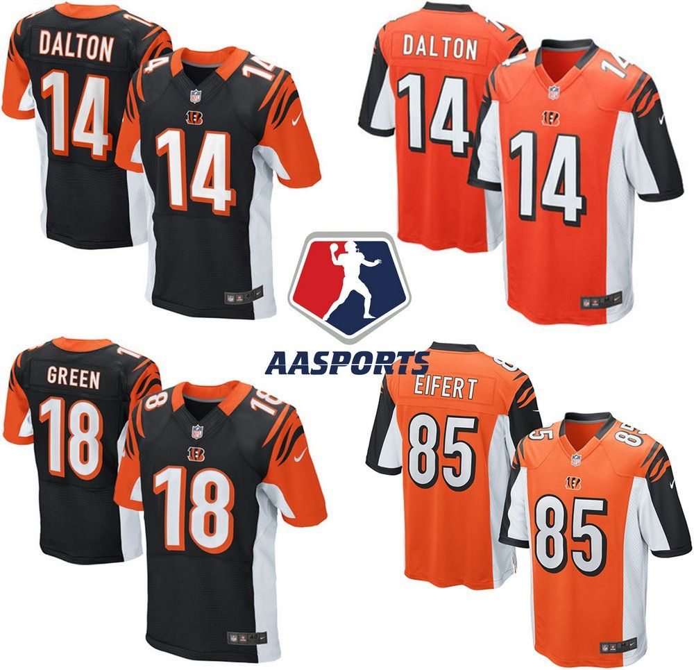 0719161cebe93 Camisa Cincinnati Bengals - 14 Andy Dalton - 18 AJ Green - 85 Tyler Eifert