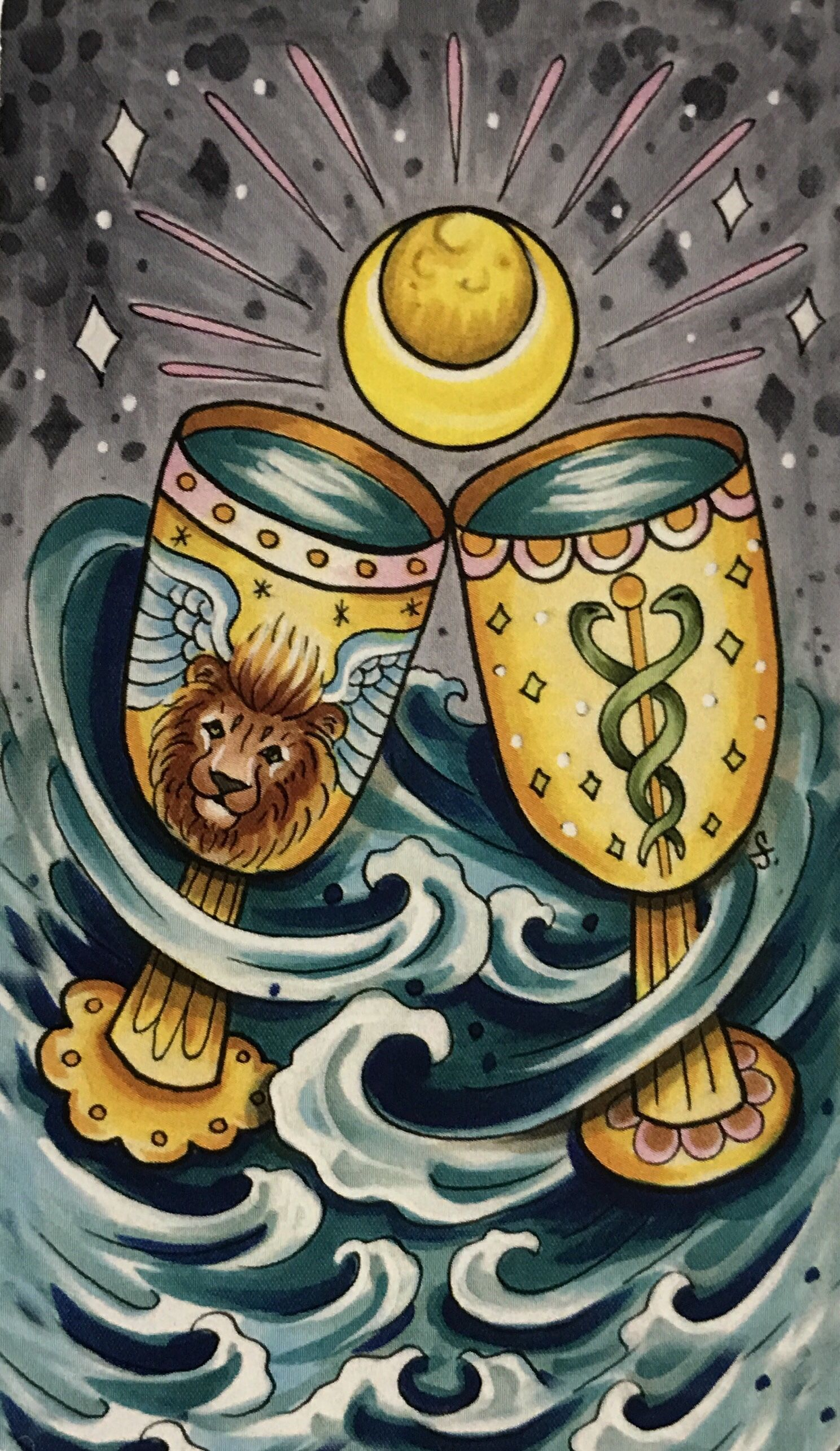 Card of the day 2 of cups tuesday january 29 2019