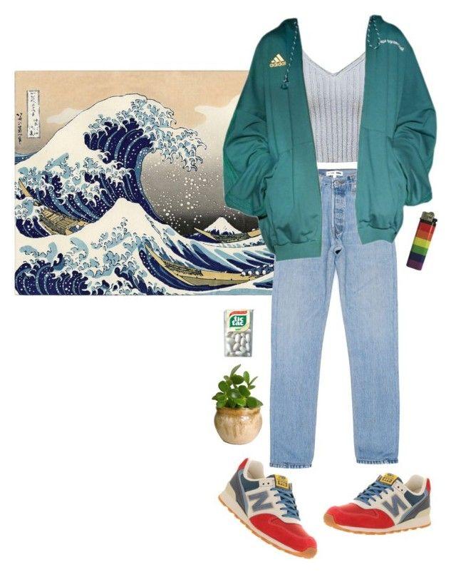 rainy day '95 by hittite on Polyvore featuring moda, New Balance, WALL,
