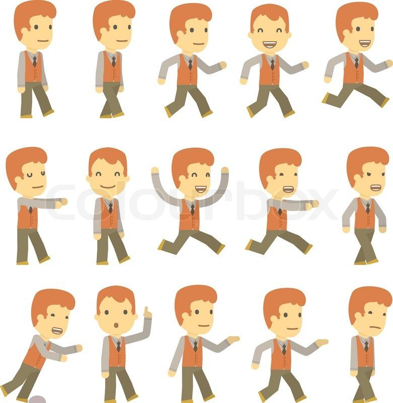 Simple Character Design Illustrator : Simple character design vector urban set