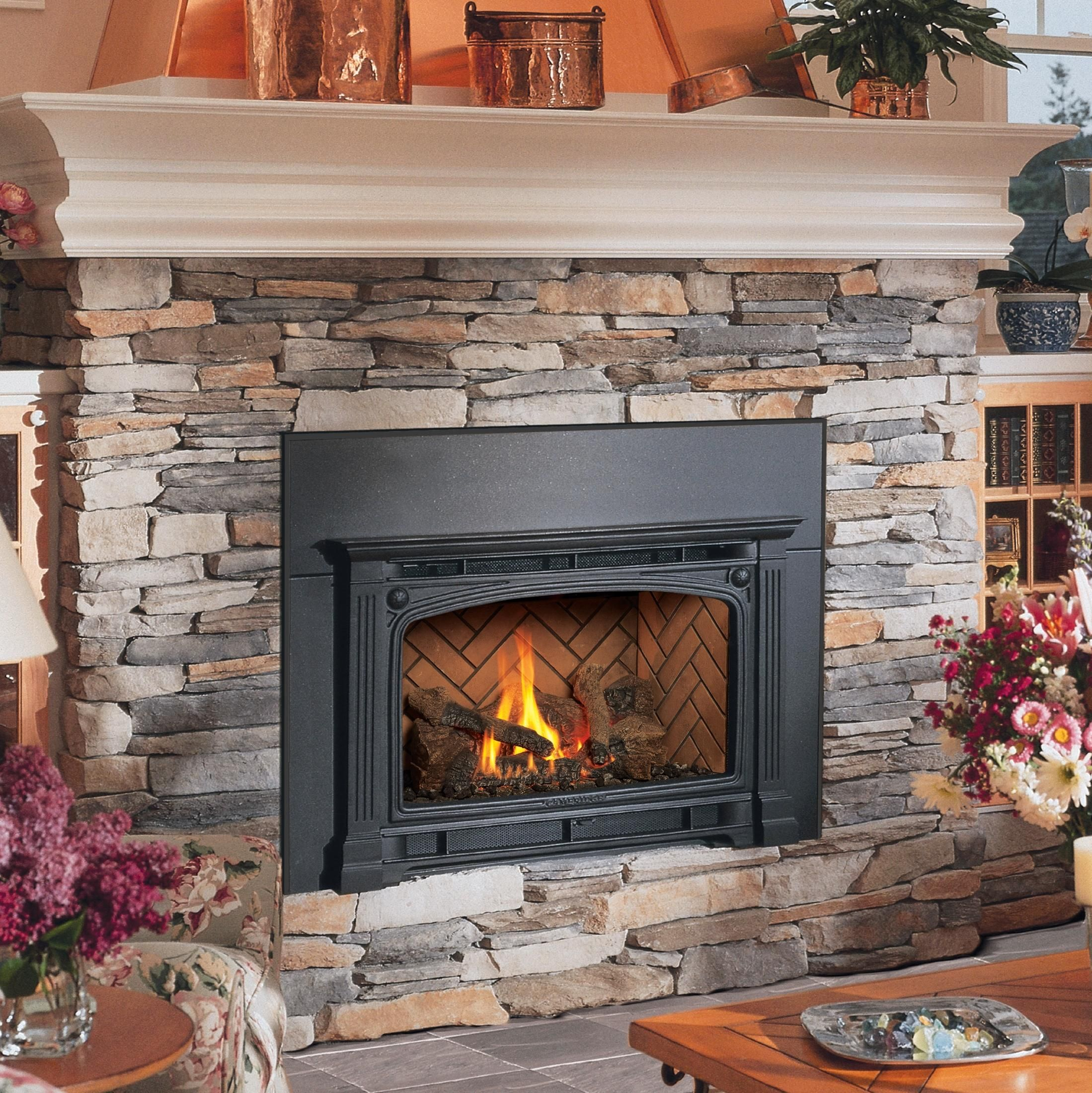 fireplace spa ambiance inserts patio installation and inspiration gas country stove insert