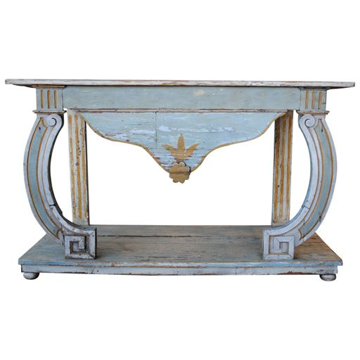 Portuguese Painted Console Table