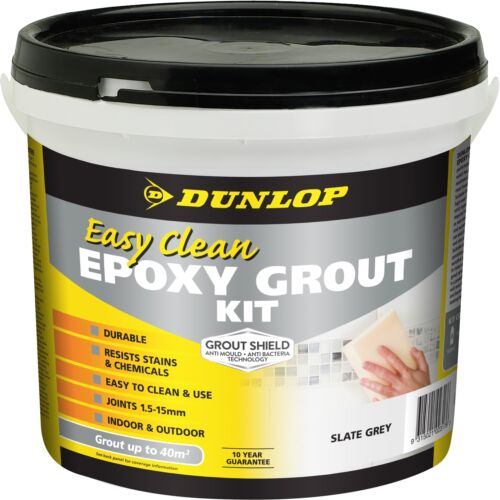 Dunlop EASY CLEAN EPOXY GROUT KIT 3.25Kg Slate Grey Or