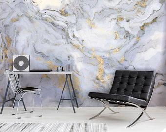 Self Adhesive Wallpaper Etsy Uk Marble Wall Mural Gold Wallpaper Living Room Marble Wallpaper
