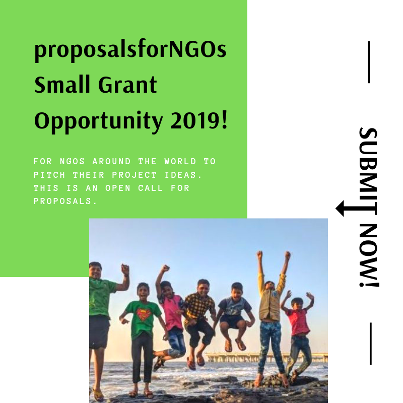 Proposalsforngos Small Grant Opportunity 2019 Proposalforngos Proposal Writing Grant Writing Fundraising Tips